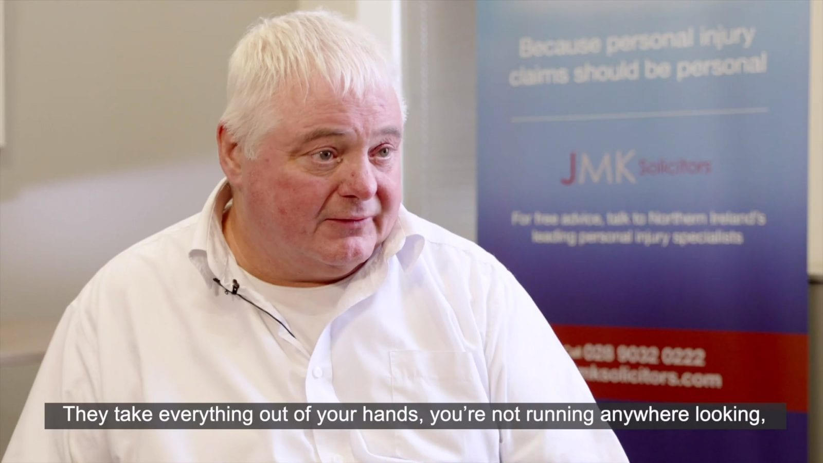 JMK Solicitors Number 1 Personal Injury Specialists Belfast and Newry - Customer Testimonial