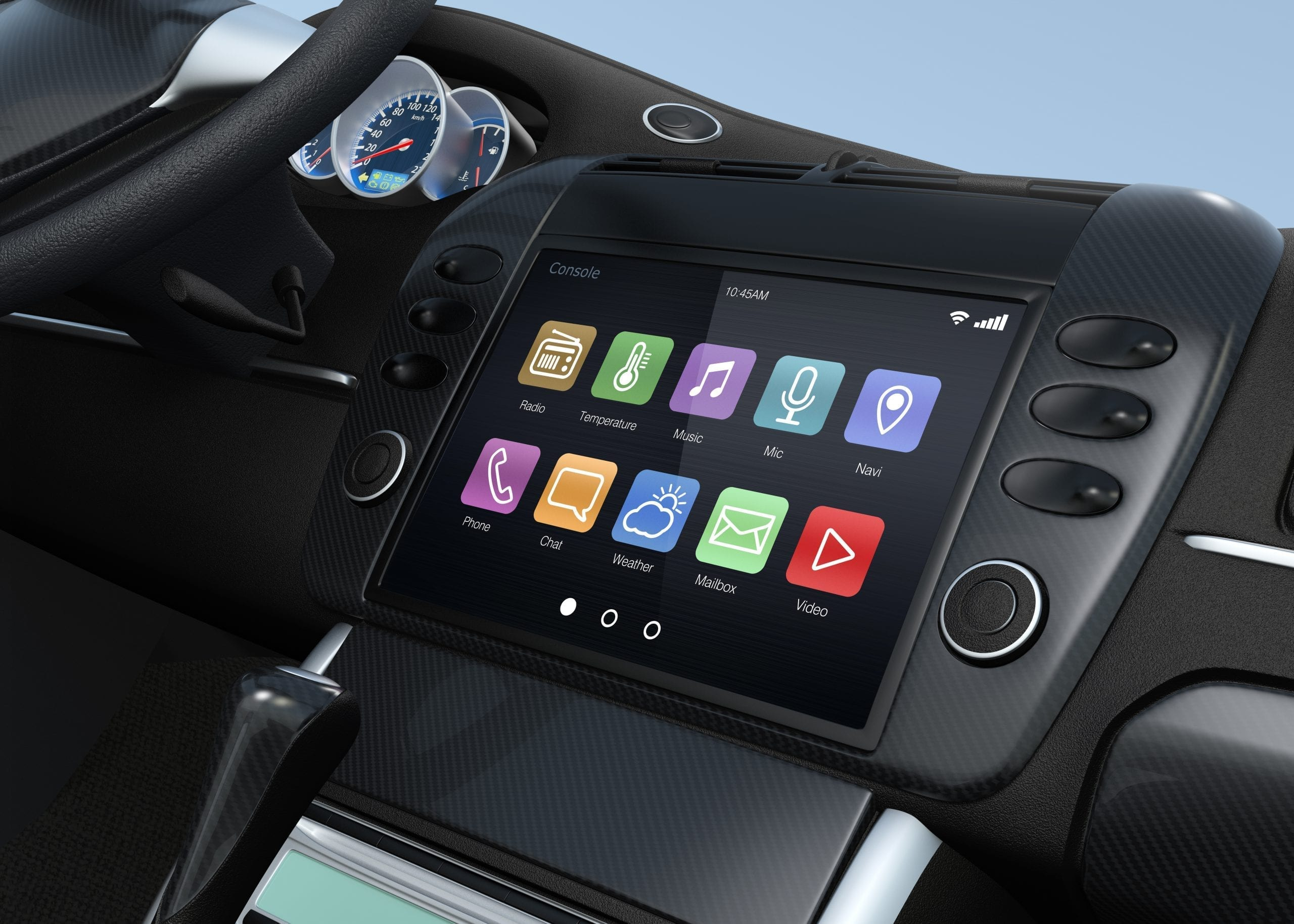 smart touch screen multimedia system for automobile.